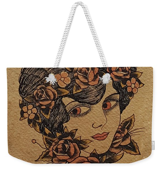 Rose Eyes Weekender Tote Bag