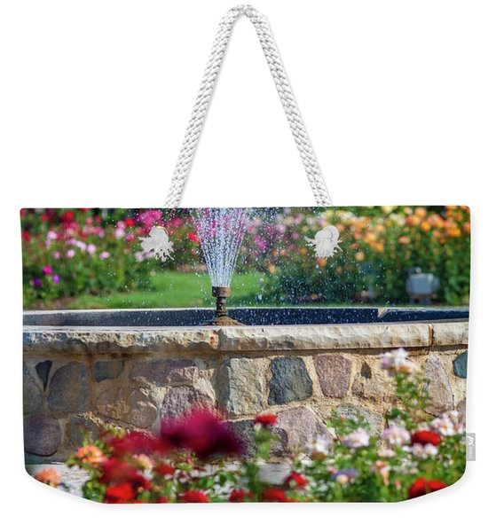 Rose Fountain Weekender Tote Bag
