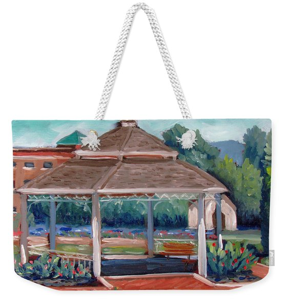Rose Garden Gazebo Weekender Tote Bag