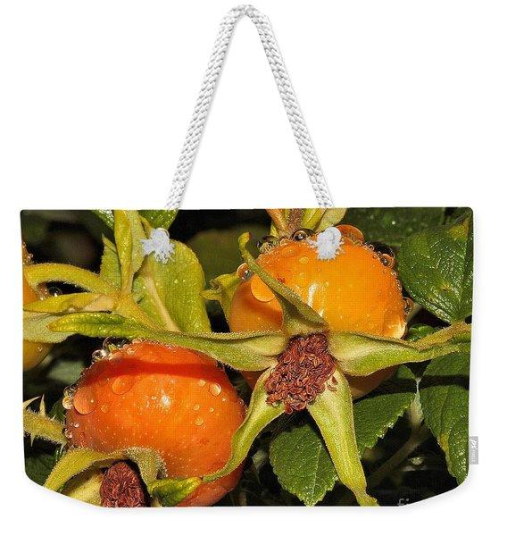 Rose Hips Weekender Tote Bag
