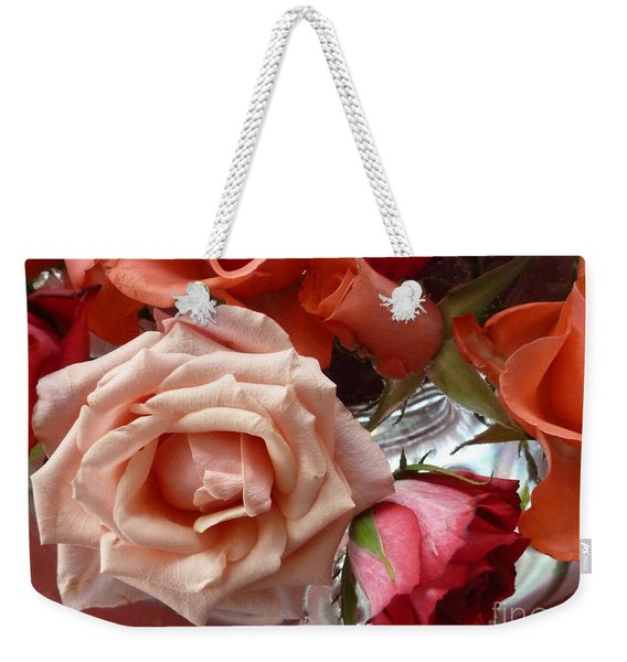 Love Flower Rose Weekender Tote Bag
