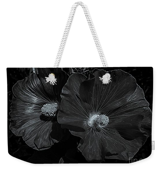 Rose Of Sharon Bw Weekender Tote Bag