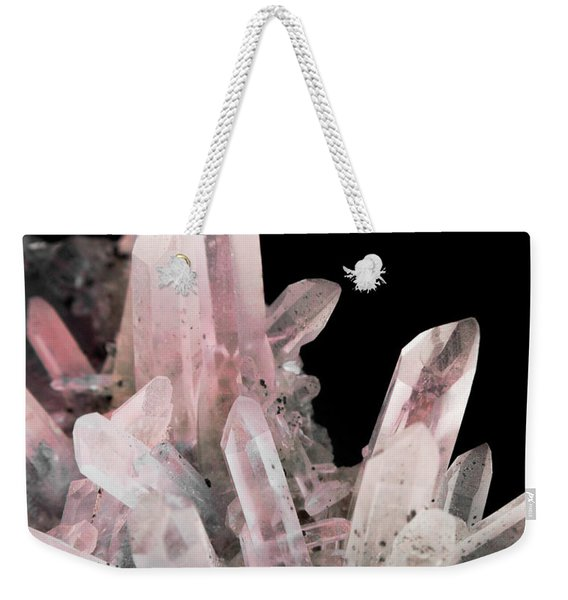 Rose Quartz Crystals Weekender Tote Bag