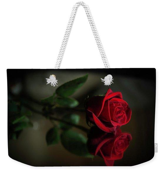 Rose Reflected Weekender Tote Bag