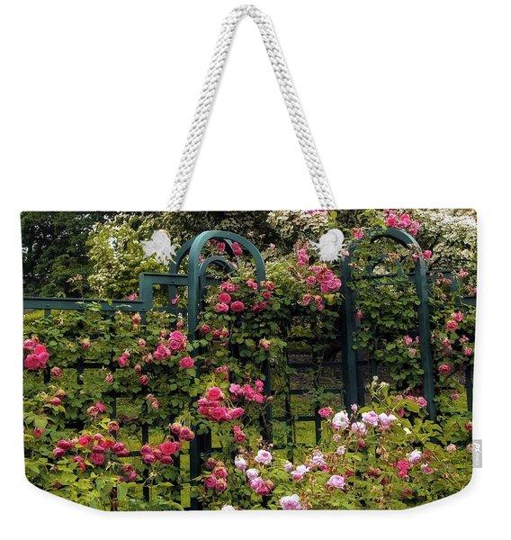 Rose Trellis Weekender Tote Bag