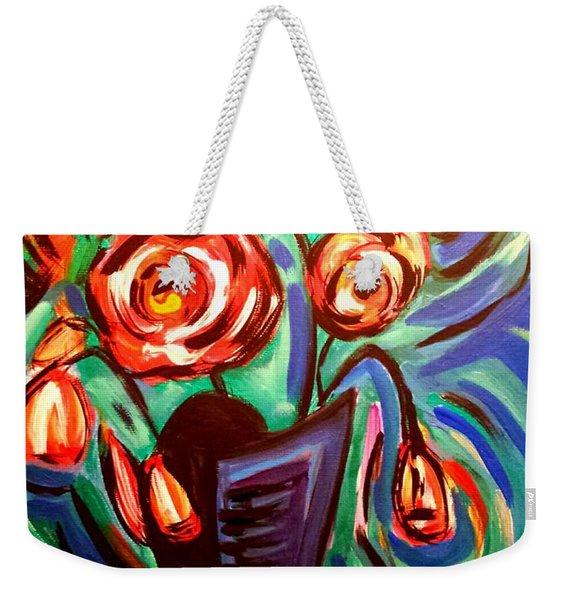 Rose Vibes Weekender Tote Bag
