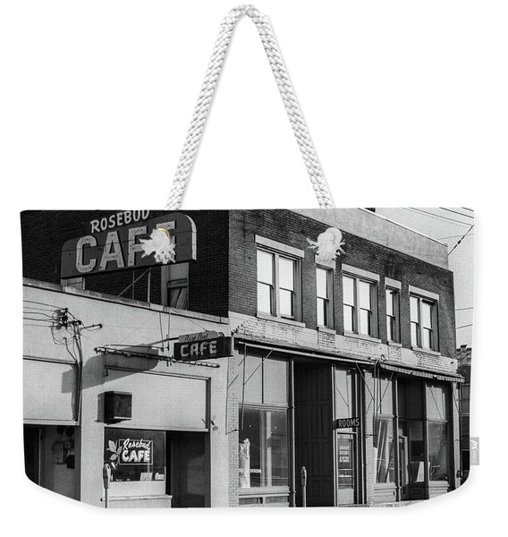 Weekender Tote Bag featuring the photograph Rosebud Cafe, Roseburg, Oregon by Frank DiMarco
