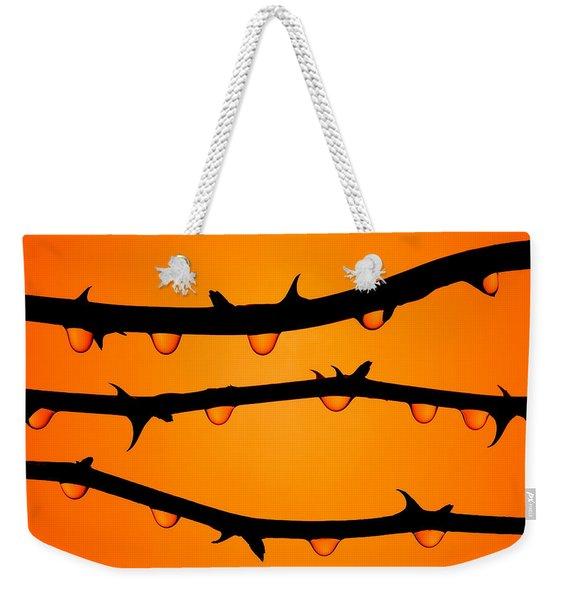 Rosebush Silhouette Weekender Tote Bag