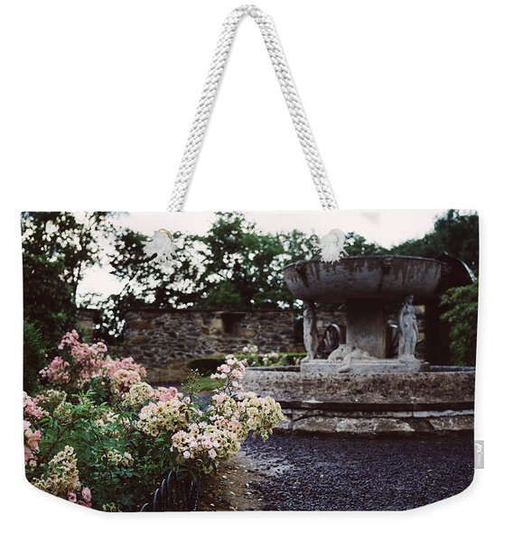 Flowers And A Fountain Weekender Tote Bag