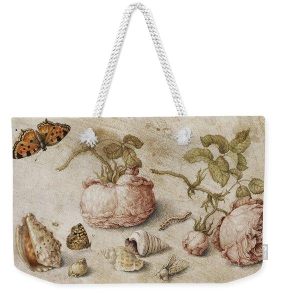Roses, Butterflies And Shells Weekender Tote Bag