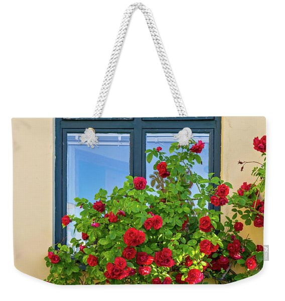 Roses Decorating A House Weekender Tote Bag
