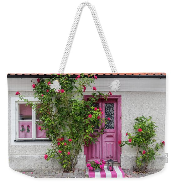 Roses Decorating The House Entrance Weekender Tote Bag