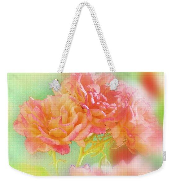 Roses In Threes Weekender Tote Bag