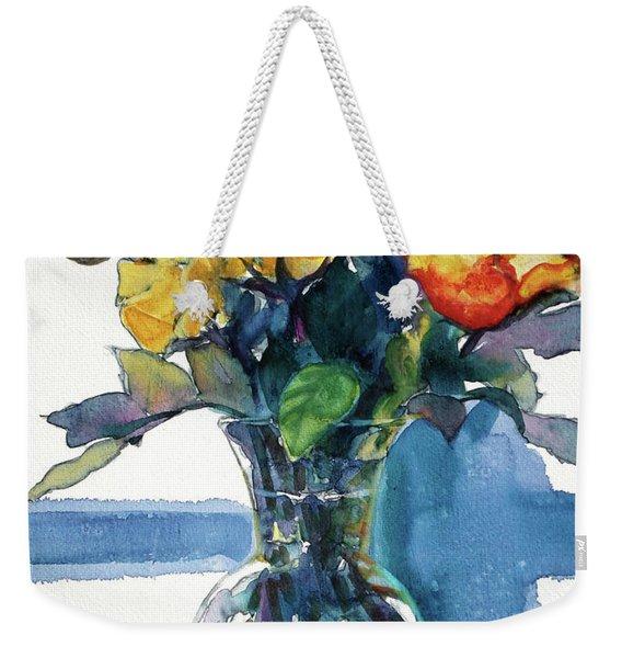 Roses In Vase Still Life I Weekender Tote Bag