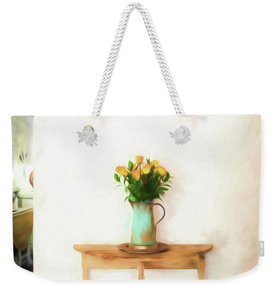 Rose's On Table Weekender Tote Bag