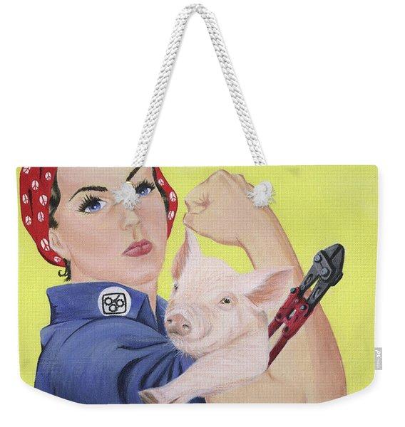Rosie The Rescuer Weekender Tote Bag