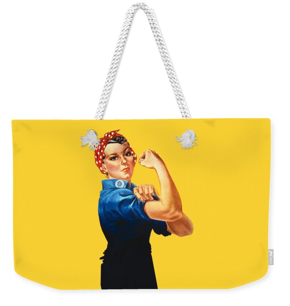 Rosie The Riveter Retro Style Weekender Tote Bag