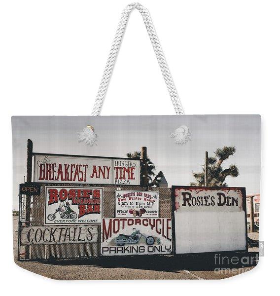 Rosies Den Cafe Weekender Tote Bag