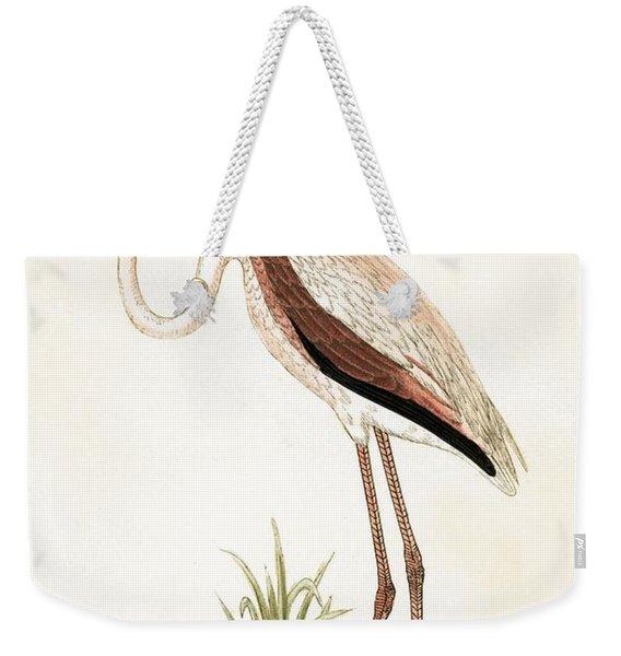 Rosy Flamingo Weekender Tote Bag