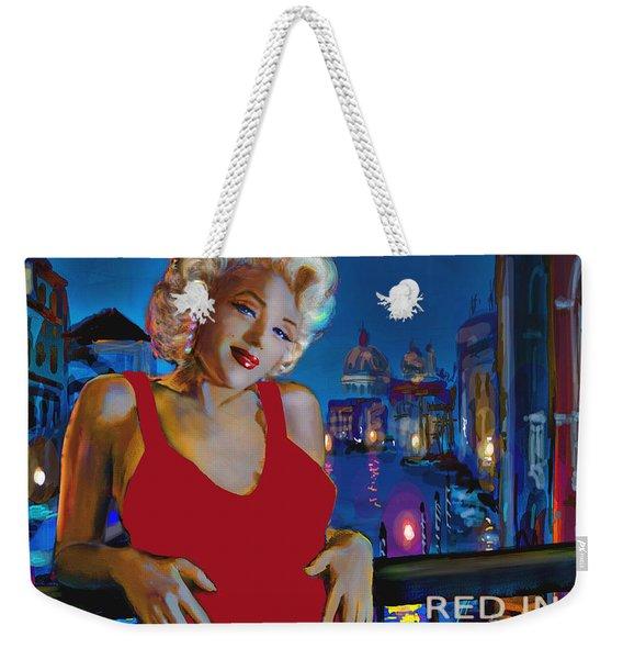 Rot In Venedig / Red In Venice Weekender Tote Bag