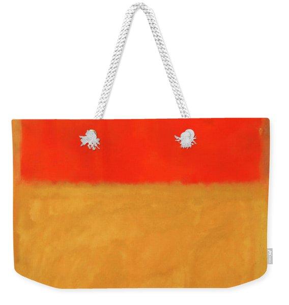 Rothko's Orange And Tan Weekender Tote Bag