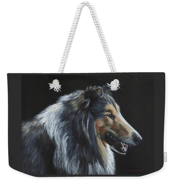 Rough Collie Weekender Tote Bag