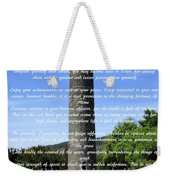 Desiderata #1 Weekender Tote Bag