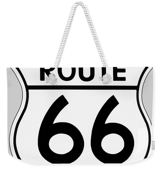 Route 66 Sign Weekender Tote Bag