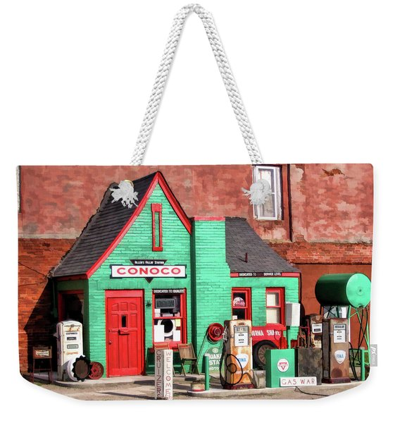 Route 66 Conoco Station Oklahoma Weekender Tote Bag