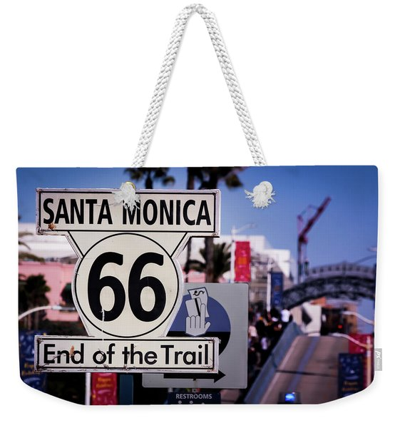 Route 66 End Of Trail Weekender Tote Bag