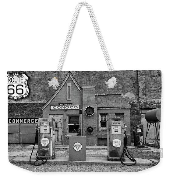 Route 66 Filling Station Weekender Tote Bag