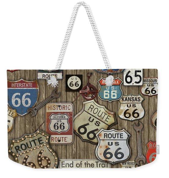 Route 66-jp3956 Weekender Tote Bag