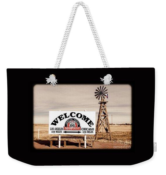 Route 66 Midpoint  Weekender Tote Bag
