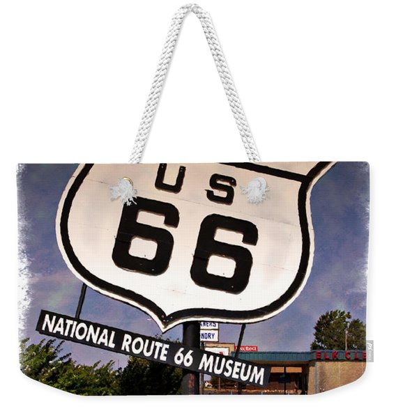 Route 66 Museum - Impressions Weekender Tote Bag