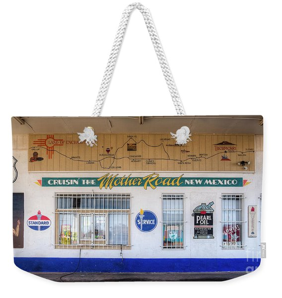 Route 66 Service Station Weekender Tote Bag