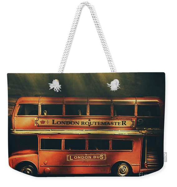 Routemaster Bus Station Weekender Tote Bag