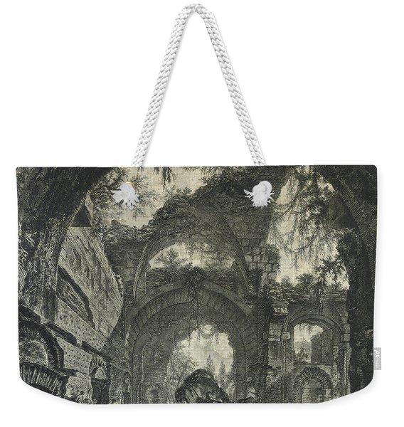 Rovine D'una Galleria Di Statue Nella Villa Adriana A Tivoli  Weekender Tote Bag