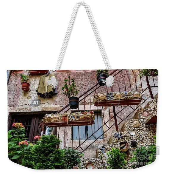 Rovinj Old Town Courtyard, Rovinj Croatia Weekender Tote Bag