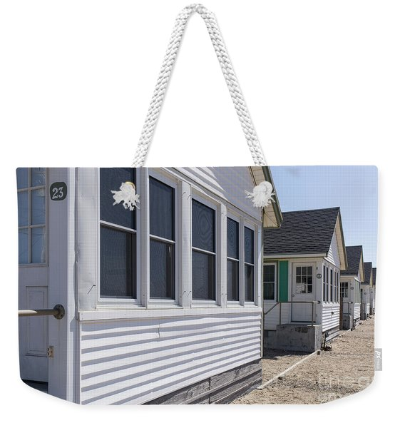 Row Of Identical Beach Cottages Weekender Tote Bag