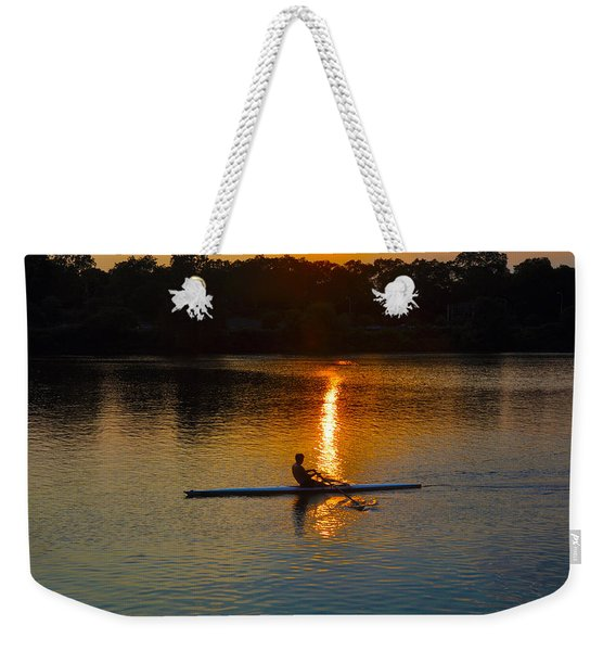 Rowing At Sunset 2 Weekender Tote Bag