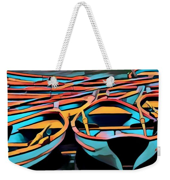 Rowing Boats, Paris / Nice Weekender Tote Bag