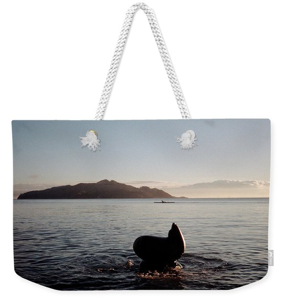 Weekender Tote Bag featuring the photograph Rowing Off Sausalito, Ca by Frank DiMarco