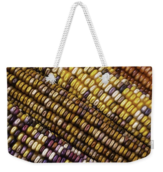 Rows Of Indian Corn Weekender Tote Bag