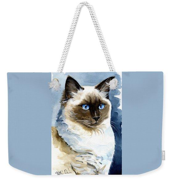 Roxy - Ragdoll Cat Portrait Weekender Tote Bag