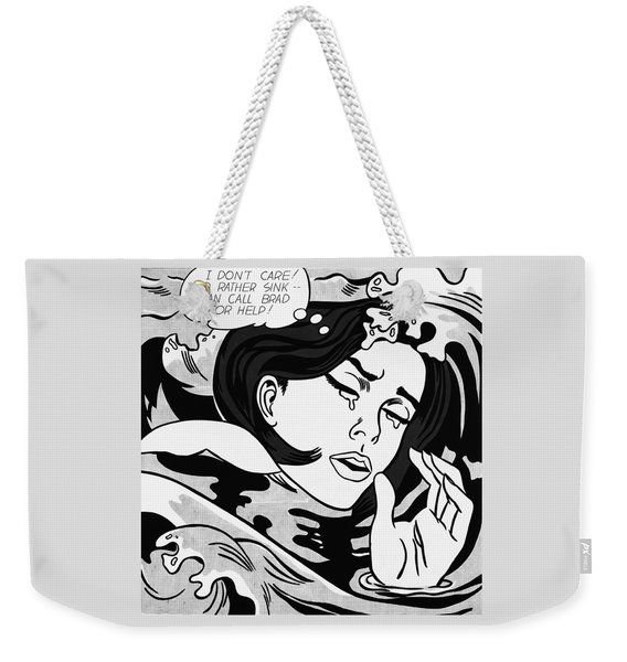 Drowning Girl  Weekender Tote Bag