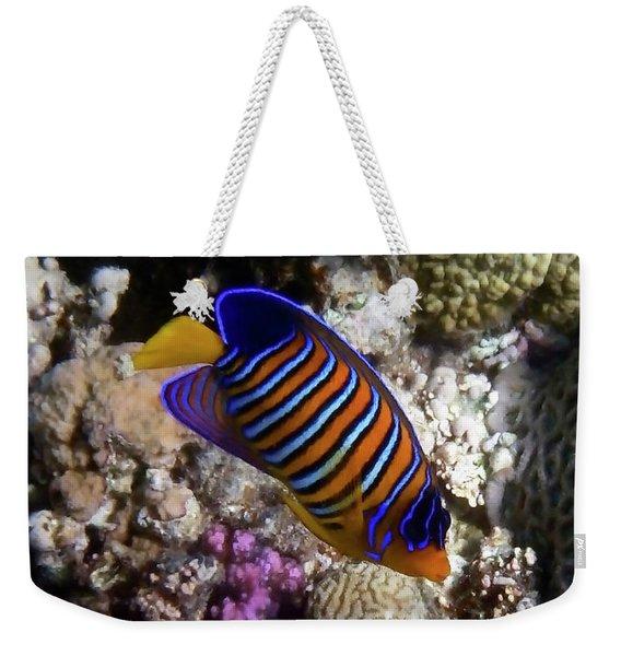Royal Angelfish Macro 3 Weekender Tote Bag