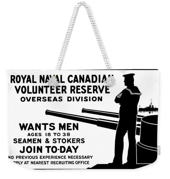 Royal Naval Canadian Volunteer Reserve Weekender Tote Bag