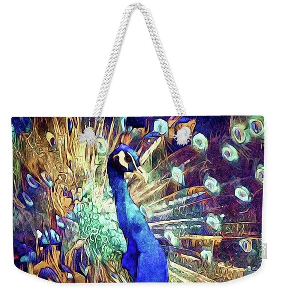 Royal Peacock Weekender Tote Bag
