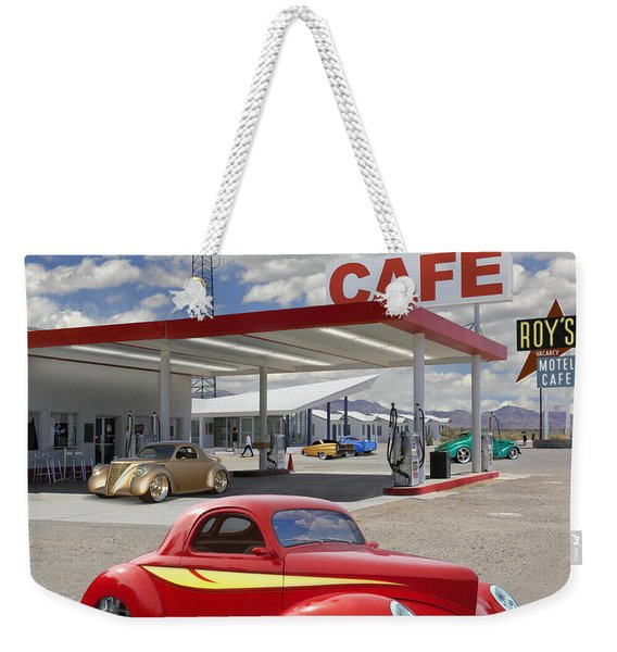 Roy's Gas Station - Route 66 2 Weekender Tote Bag
