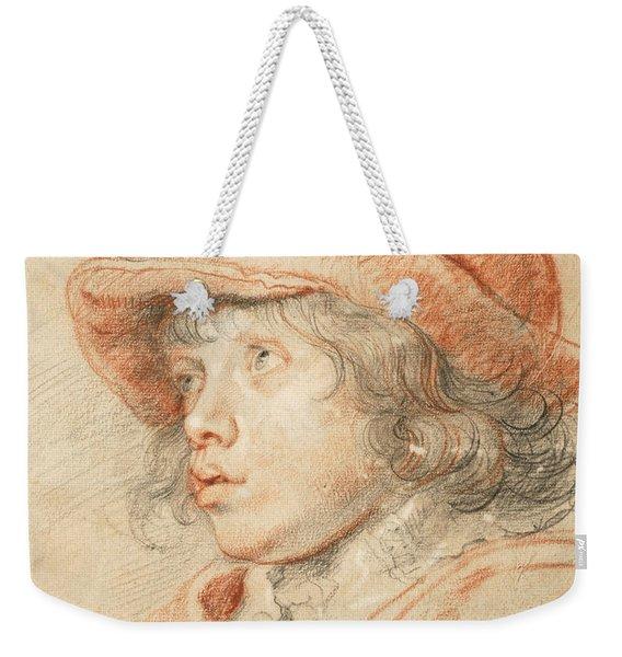 Rubens's Son Nicolaas Wearing A Red Felt Cap Weekender Tote Bag